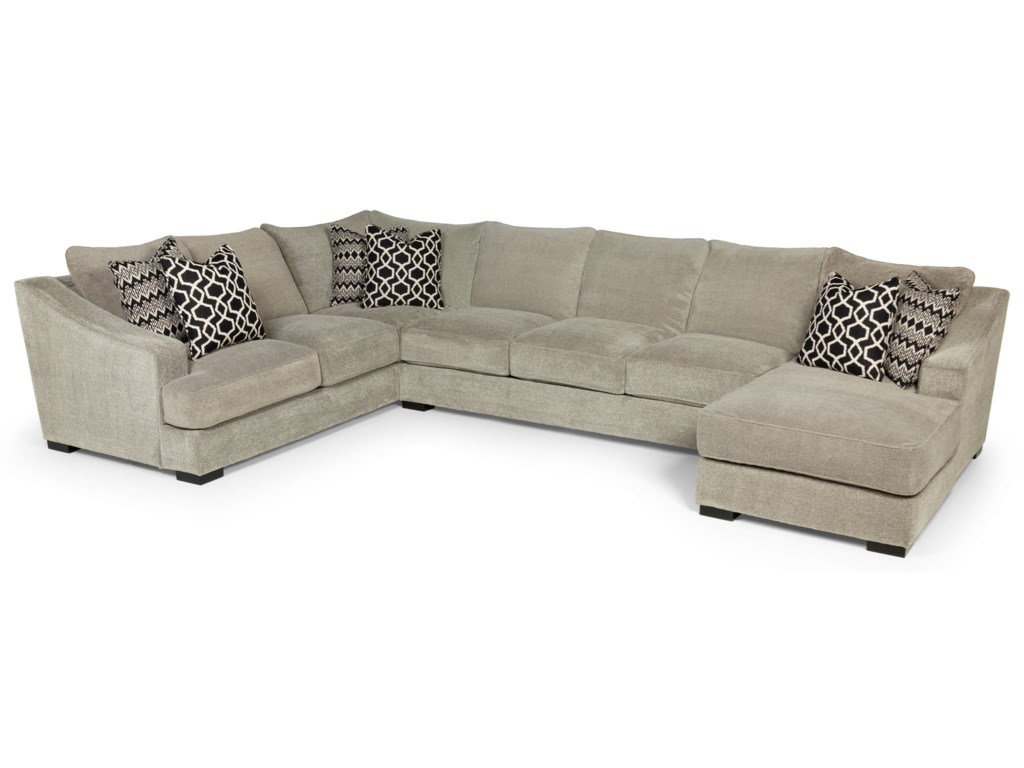 338 Casual Three Piece Sectional Sofa With Deep Seats By Stanton
