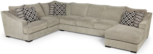 Stanton 338 Casual Three Piece Sectional Sofa with Deep Seats