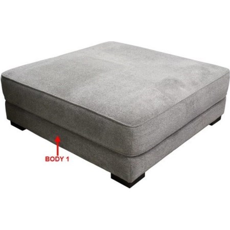 XL Square Cocktail Ottoman