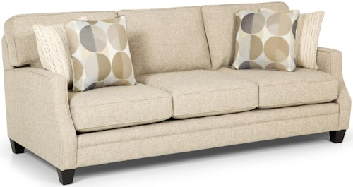 Stanton 358 Casual Sofa with Tapered Wooden Feet