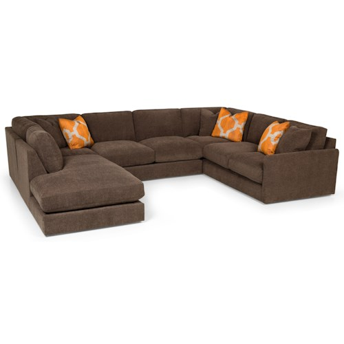 Stanton 369 Casual Sectional Sofa with Bumper Chaise