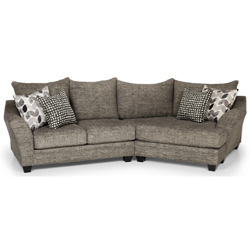 Stanton 372 Casual Sectional Sofa with Cuddler