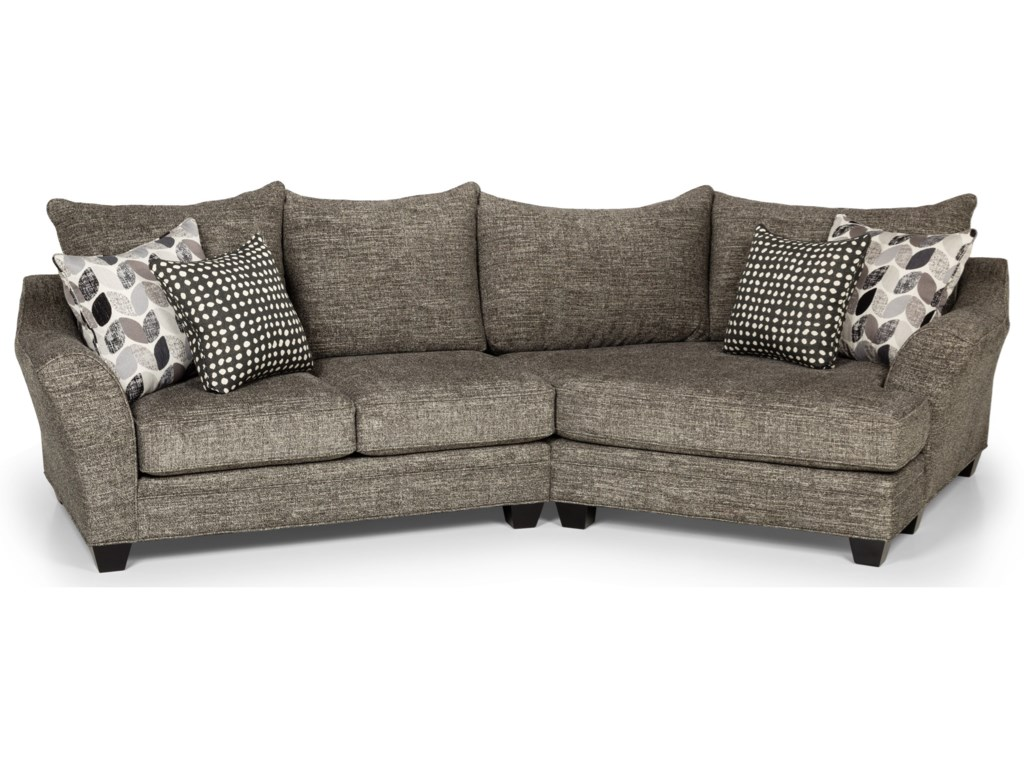 Stanton 372 Casual Sectional Sofa With Cuddler Rife S Home