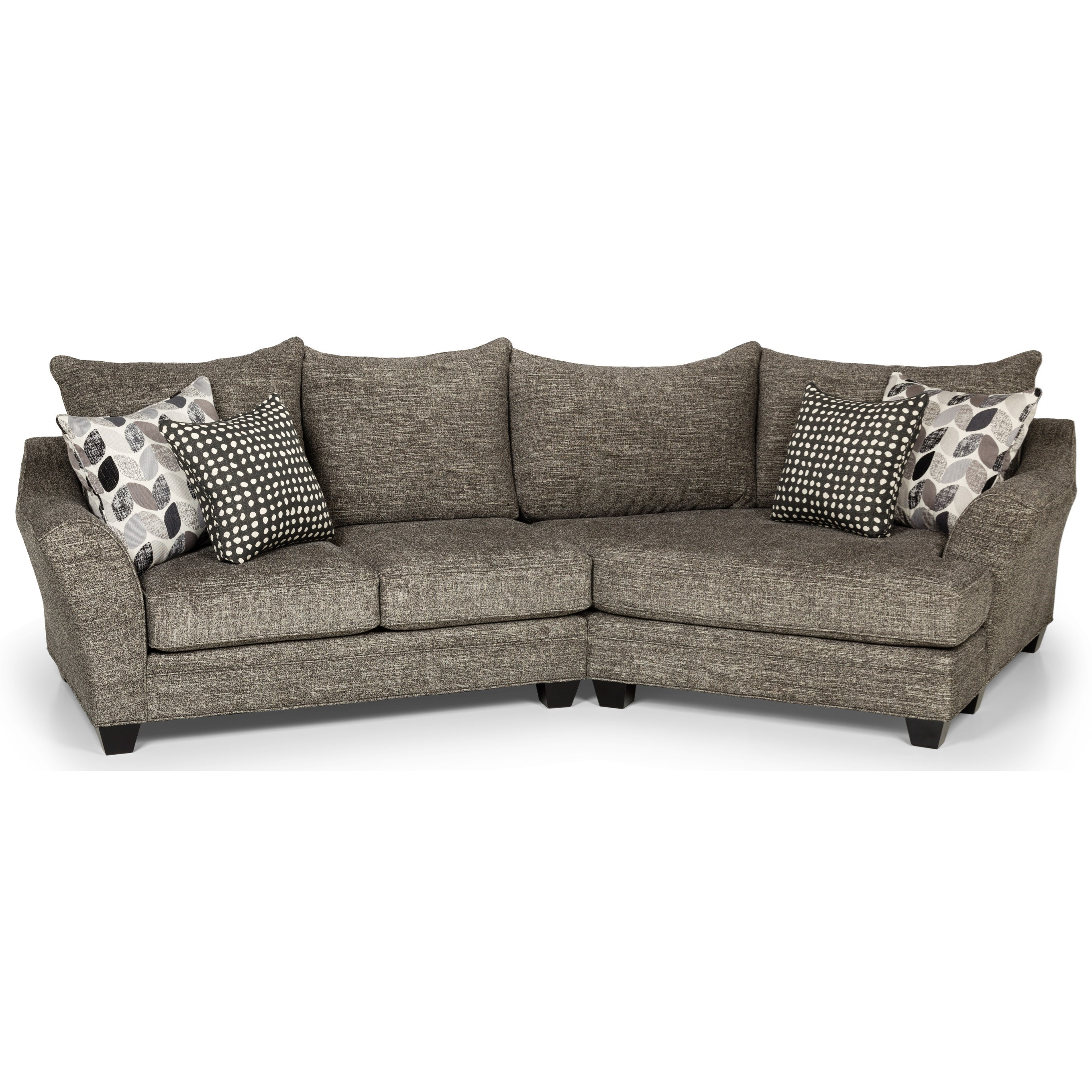 Sunset Home 372 Casual Sectional Sofa With Cuddler