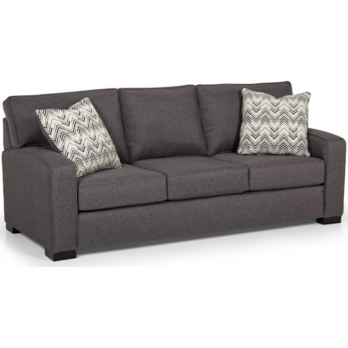 Stanton 375 Contemporary Queen Basic Sleeper Sofa with Arching Track Arms