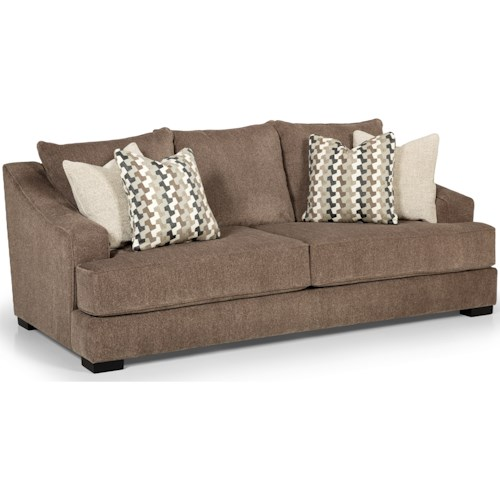 Stanton 376 Casual Sofa with Sloped Track Arms