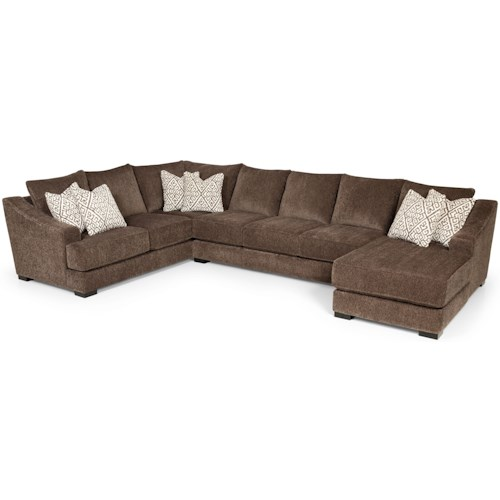 Stanton 376 Casual Sectional Sofa with Sloped Track Arms
