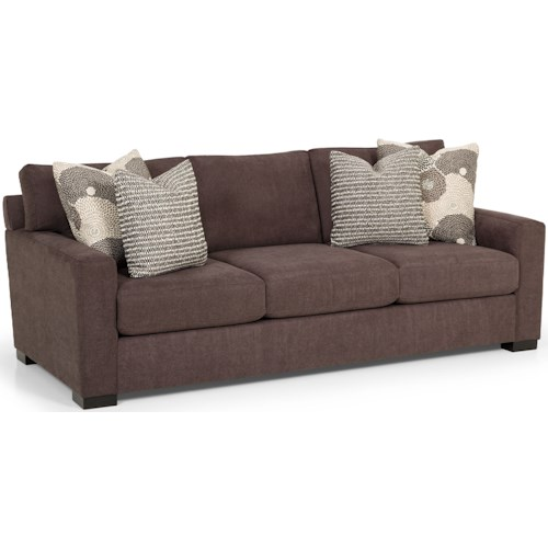 Stanton 383 Sofa with Track Arms and Toss Pillows