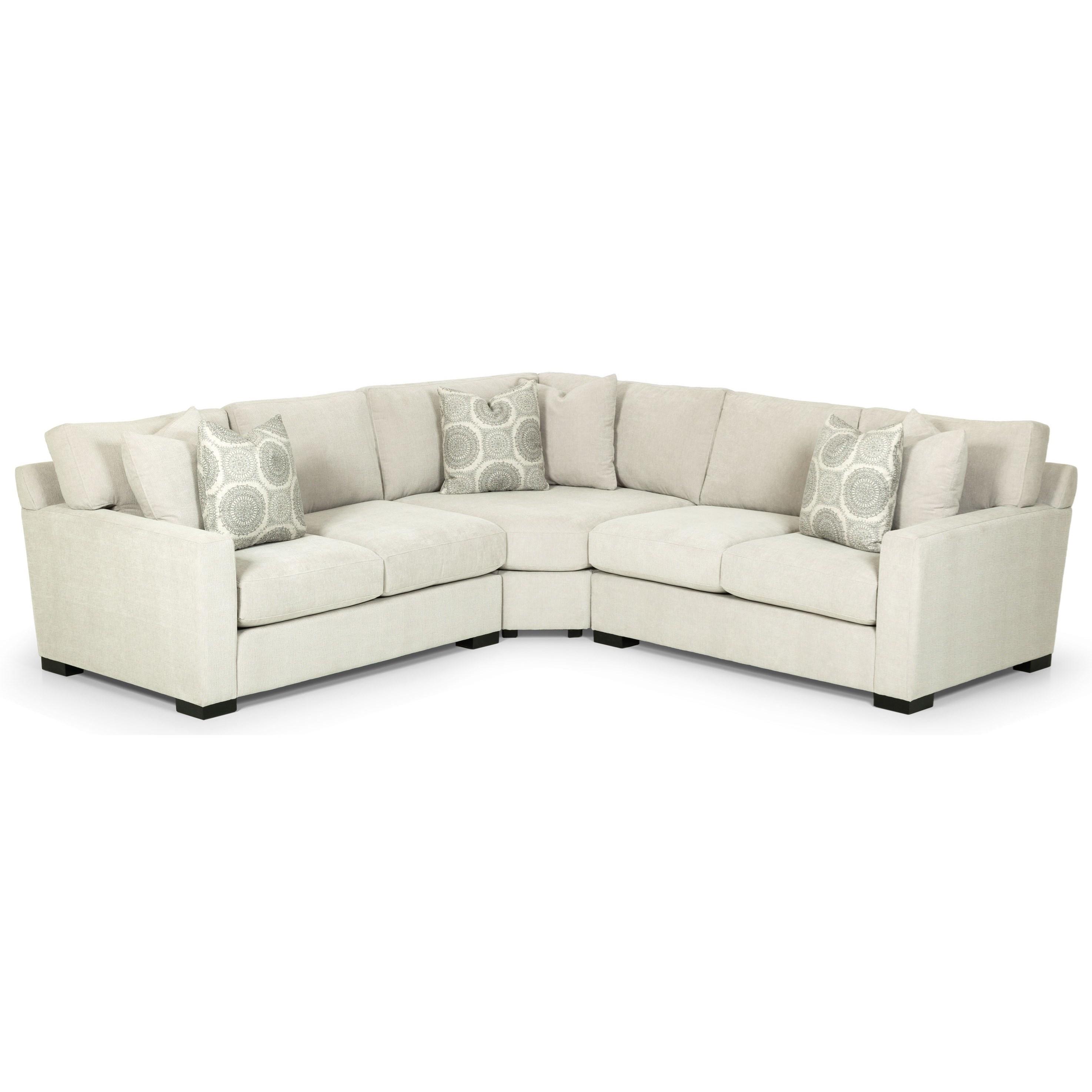 Merveilleux 383 Three Piece Corner Sectional Sofa By Stanton