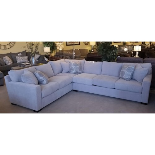 Stanton 383 Two Piece Sectional with LSF Tux Sofa