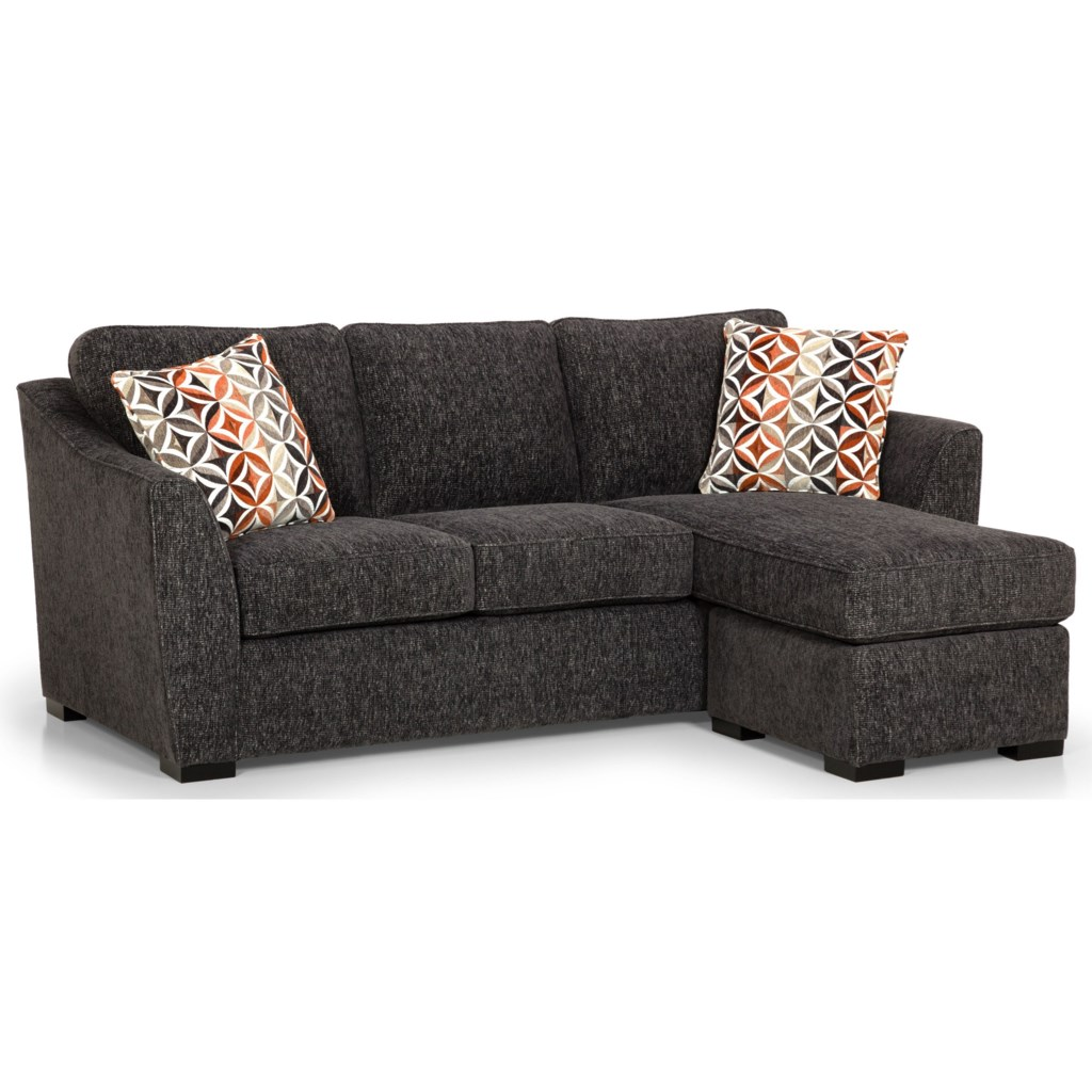 Sunset Home 384 Casual Sofa Chaise With Reversible Storage Chaise