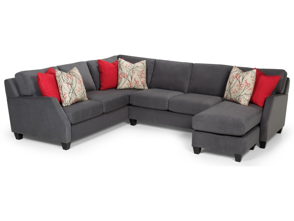 Stanton 389 Casual 3 Piece Sectional With Right Facing Chaise