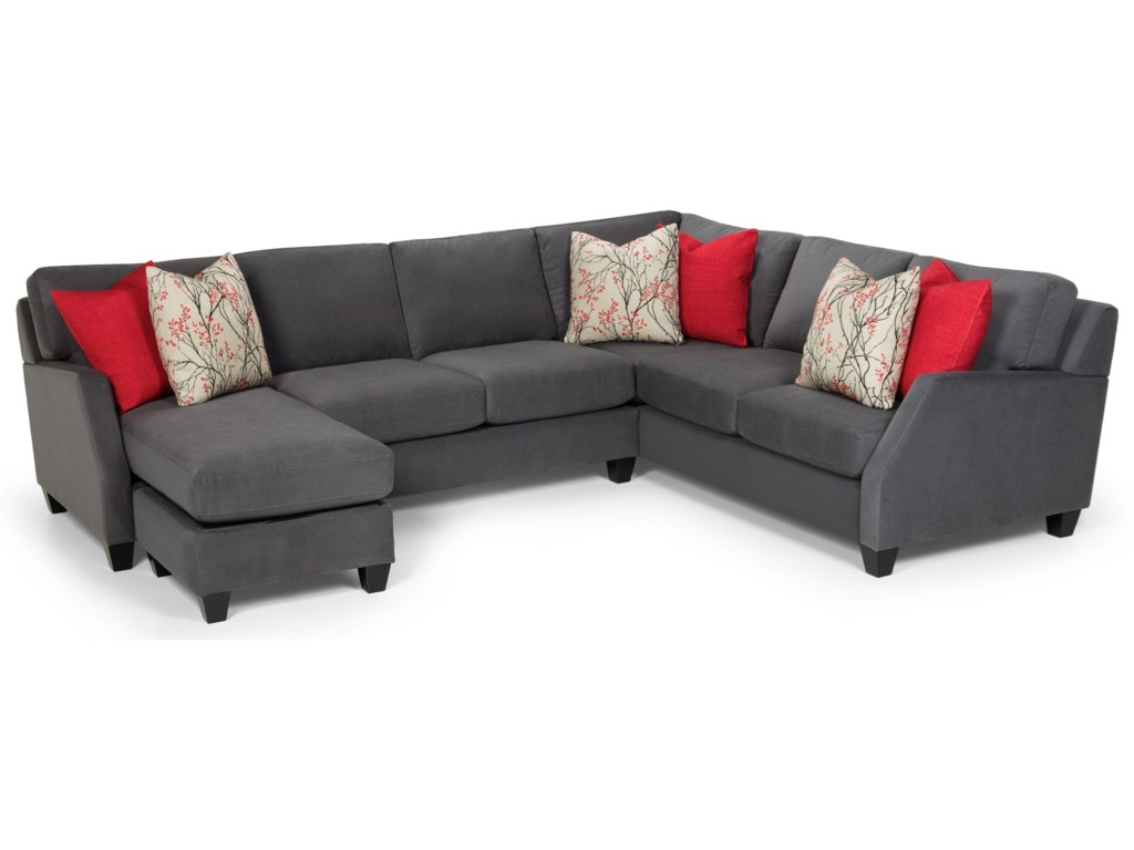 Sunset Home 389 Casual 3 Piece Sectional With Left Facing Chaise