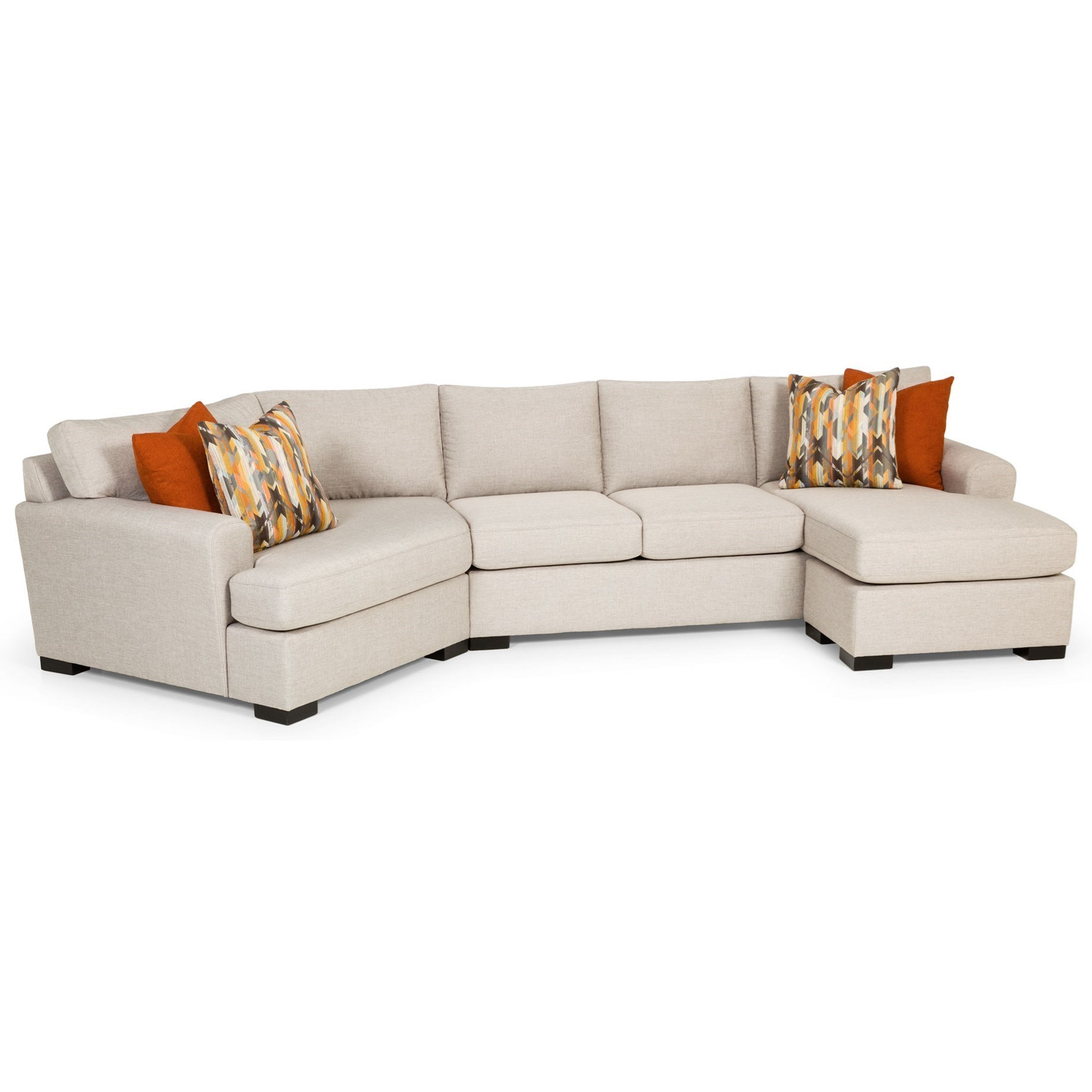 Milford Cuddle Chaise Sectional Aspen 2 Piece Sectional Wraf