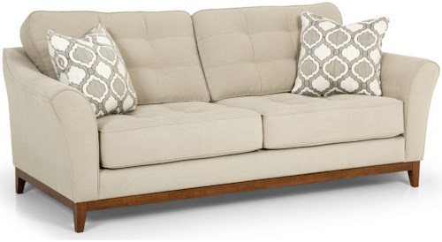 Stanton 391 Traditional Sofa with Tufted Backs and Seats