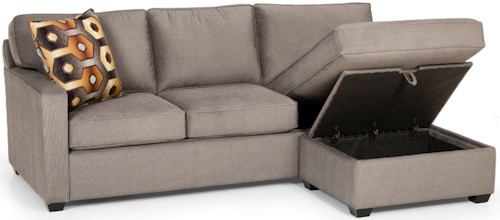 Stanton 403 Casual Sofa Chaise Queen Basic Sleeper with Storage Ottoman