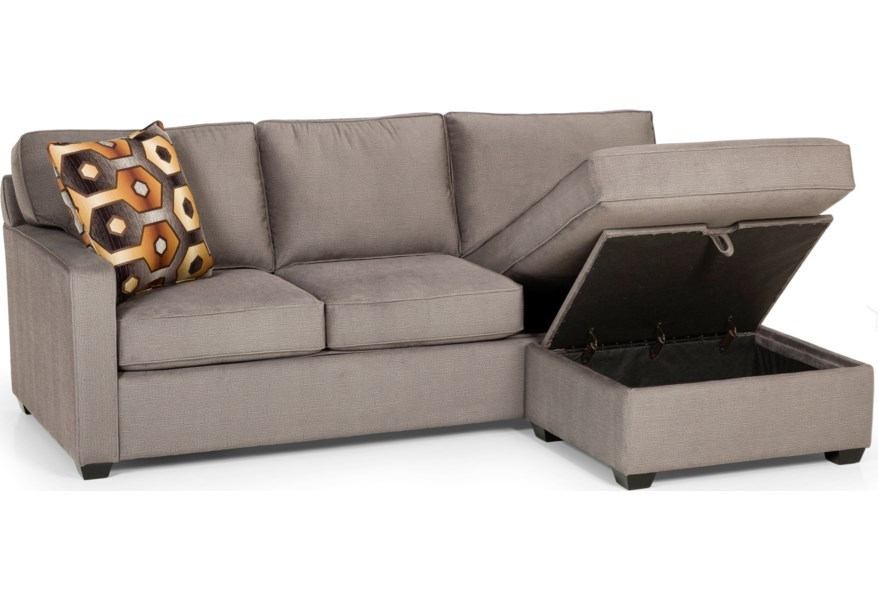 Stanton 403 Casual Sofa Chaise Queen Gel Sleeper with ...
