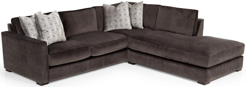 Stanton 409 Casual Sectional Sofa with Bumper Chaise