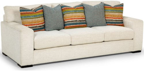 Stanton 416 Sofa with Wide Track Arms and Scatter Back Toss Pillows