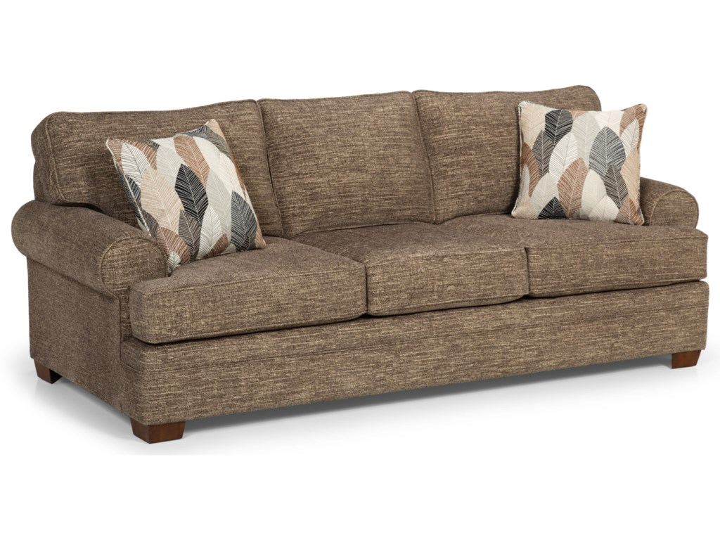Sunset Home 422 Casual Sofa with Wide Rolled Arms | Sadler\'s ...