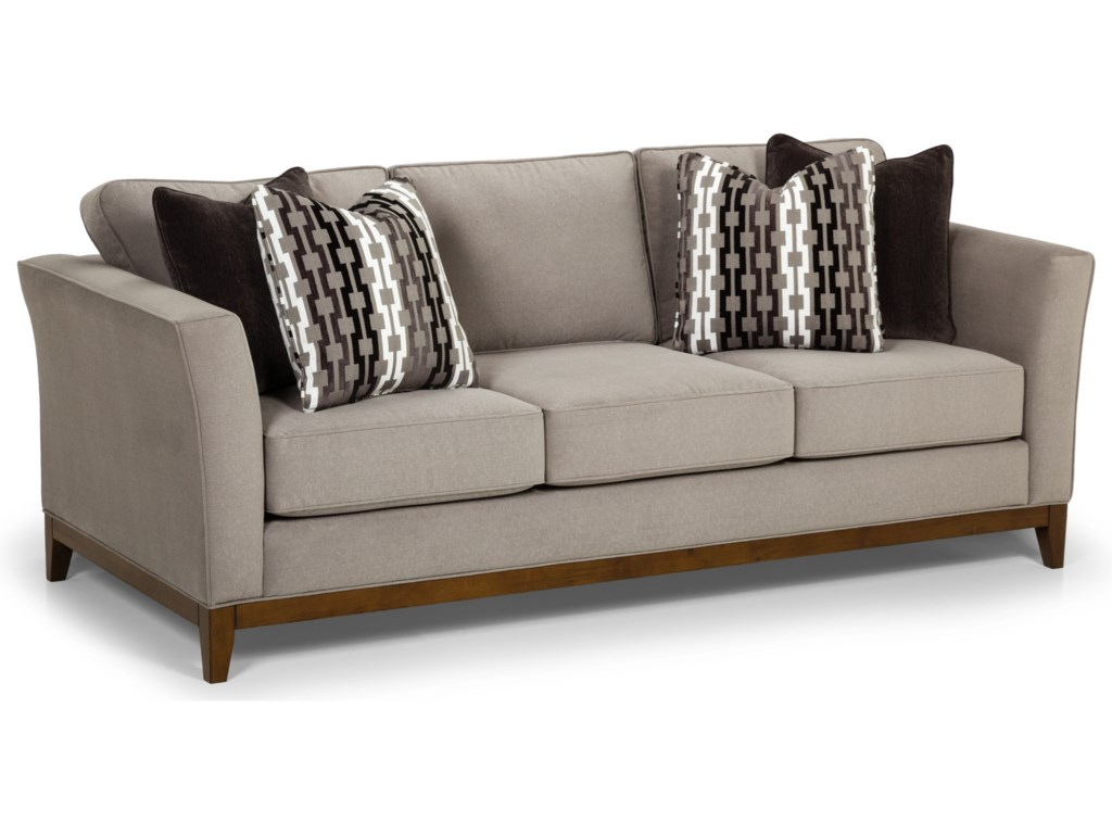 Sunset Home 428 Contemporary Sofa with Tall Flared Arms and ...