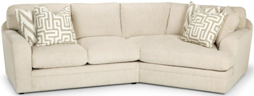 Stanton 429 Casual Two Piece Sectional Sofa with Right Arm Facing Angled Cuddler