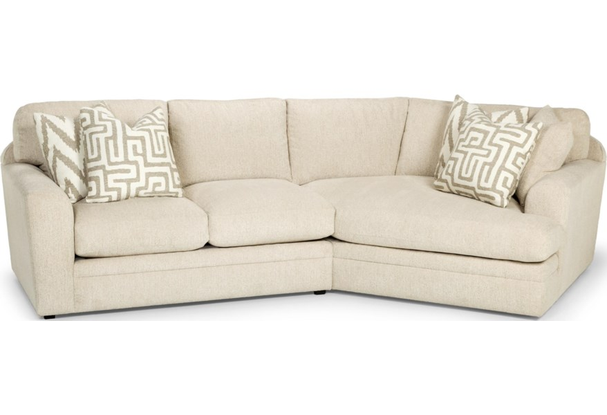 Stanton 429 Casual Two Piece Sectional Sofa With Right Arm