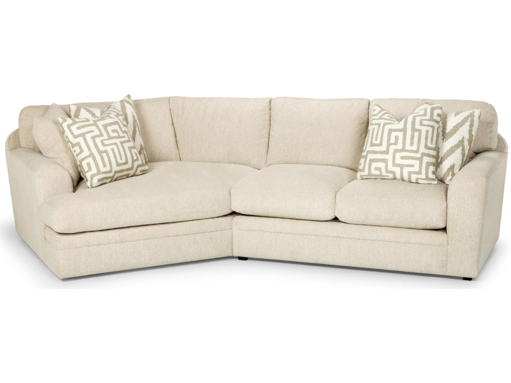 Sunset Home 429 Casual Two Piece Sectional Sofa With Left Arm Facing Angled Cuddler