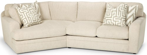 Stanton 429 Casual Two Piece Sectional Sofa with Left Arm Facing Angled Cuddler