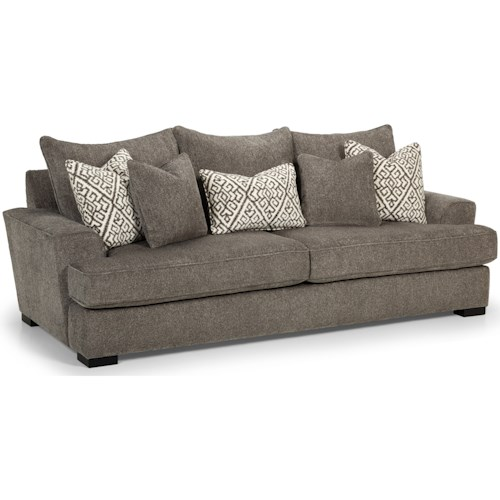 Stanton 435 Contemporary Sofa with Five Toss Pillows