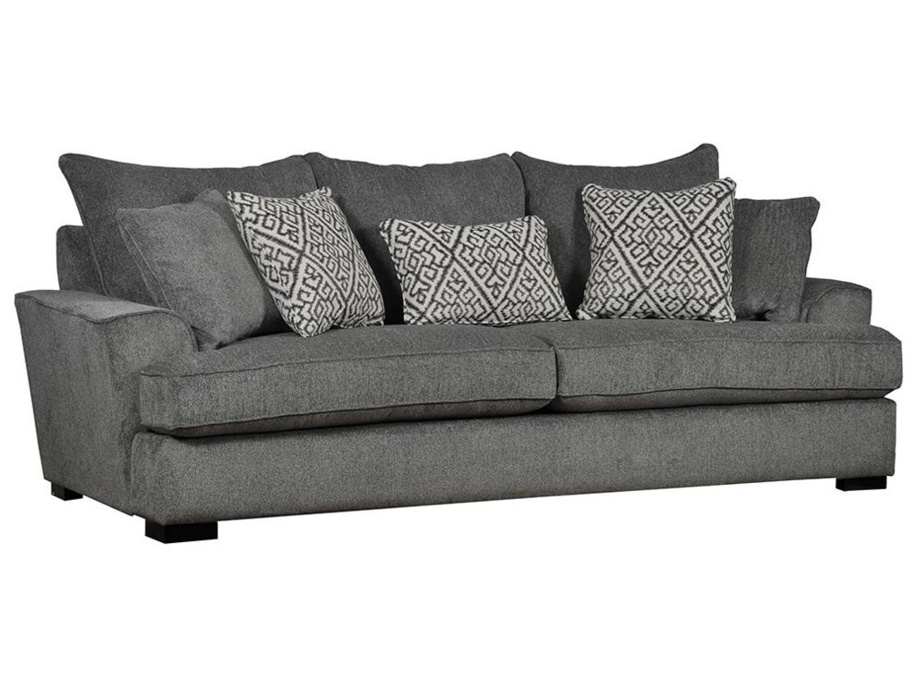 435 Contemporary Sofa with Five Toss Pillows by Sunset Home at Sadler\'s  Home Furnishings