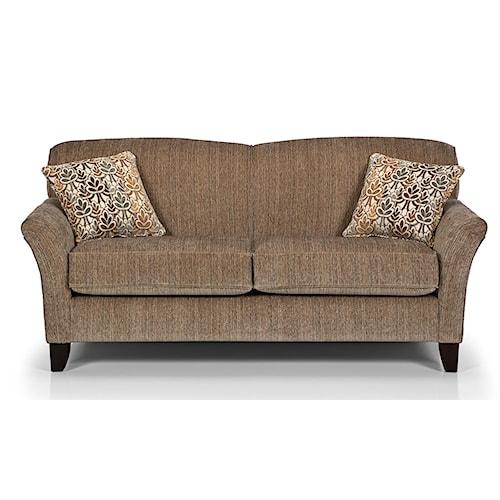 Sunset Home 455 Hocus Pocus Contemporary Loft Sofa with Reverse Camel Back