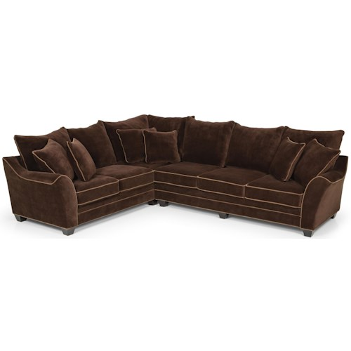 Stanton 456 Sectional Sofa w/ Pillow Back - Wilson's ...