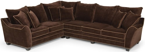 Stanton 456 Sectional Sofa w/ Pillow Back