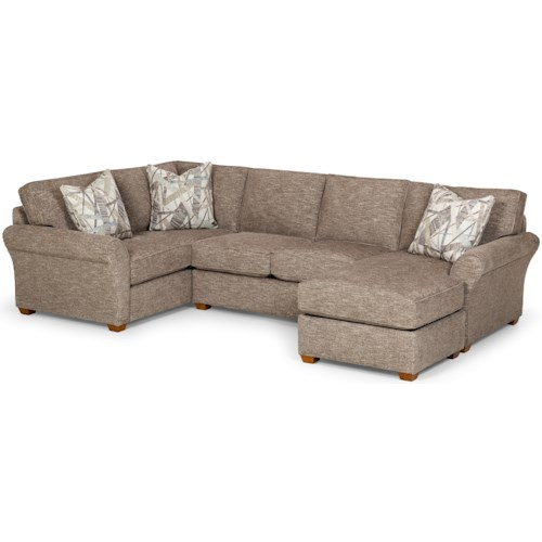 Stanton 460 Casual 4 Seat Sectional Sofa with RAF Chaise Sofa