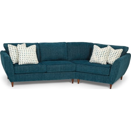 2-Piece Sectional Sofa w/ RAF Cuddler