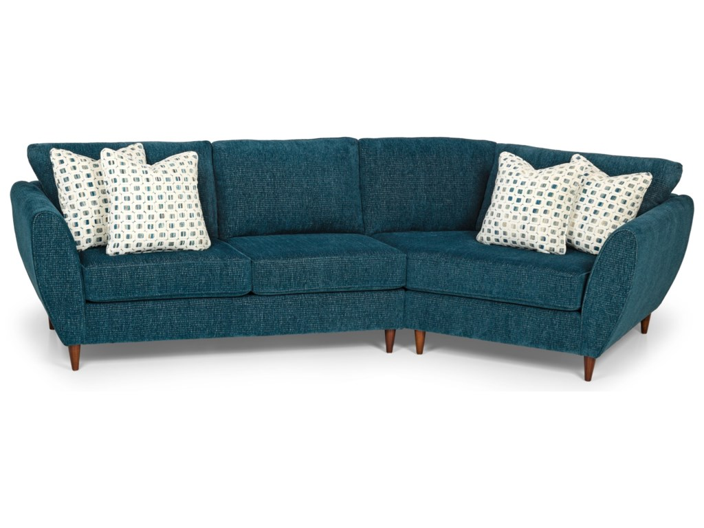Sunset Home 296592-Piece Sectional Sofa w/ RAF Cuddler