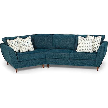 2-Piece Sectional Sofa w/ LAF Cuddler