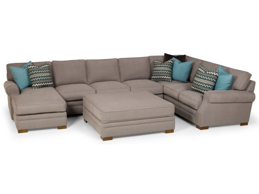 Sunset Home 5256-Seat Sectional Sofa w/ LAF Chaise