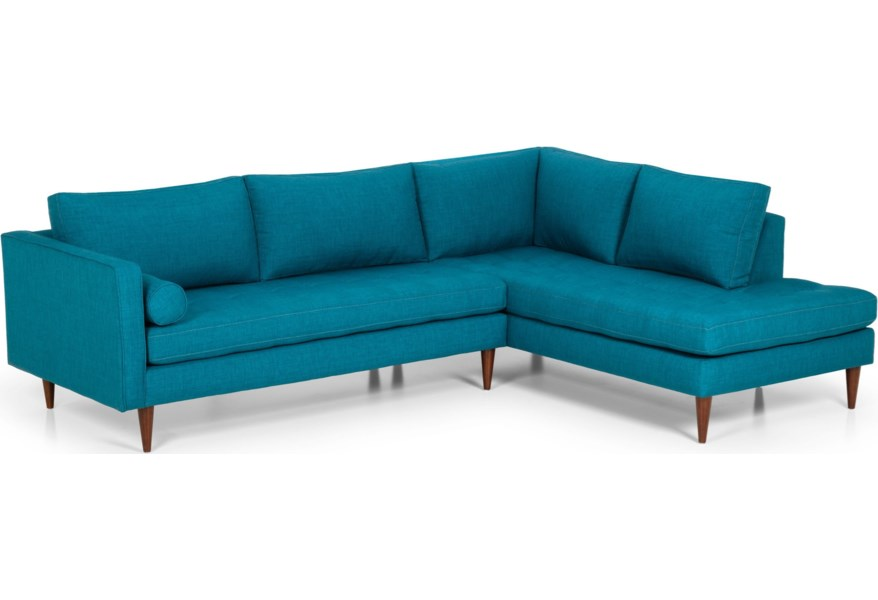 Stanton 533 Mid-Century Modern L-Shaped Sectional | Wilson\'s ...