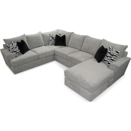 5 Seat Sectional Sofa w/ RAF Chaise