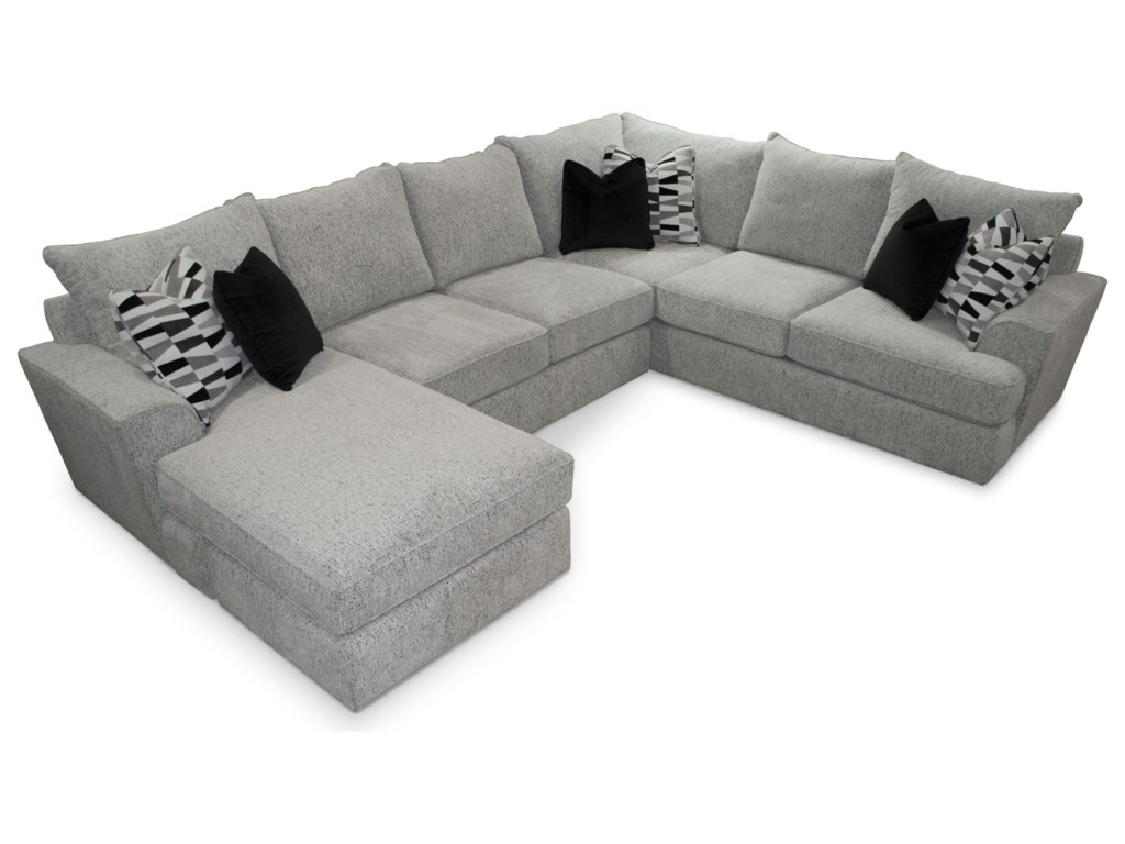 Sunset Home 535 Contemporary 5-Seat Sectional Sofa with LAF ...