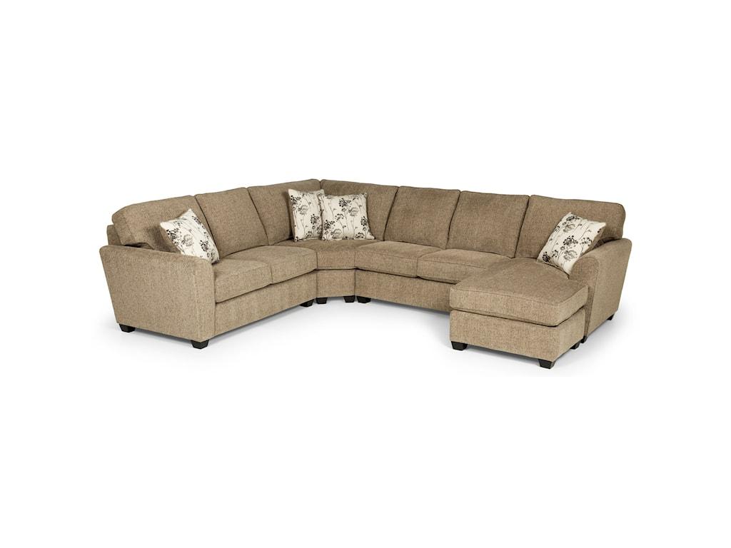 Sunset Home 5435-Seat Sectional Sofa w/ LAF Basic Sleeper