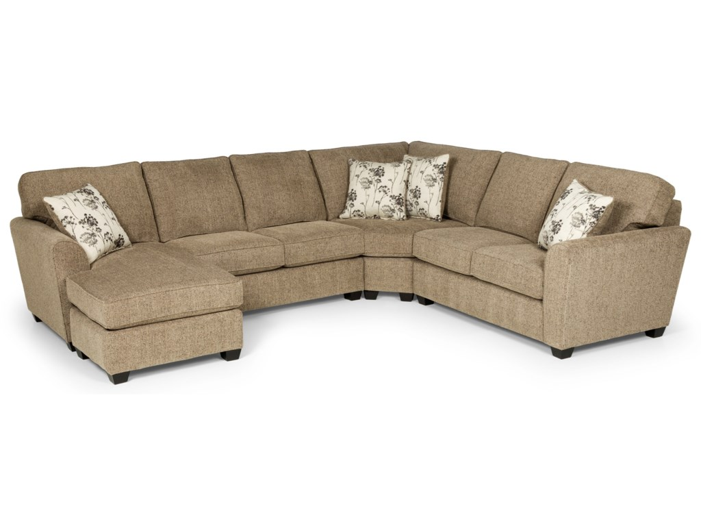 Stanton 543 Casual 5-Seat Sectional Sofa with RAF Sleeper ...