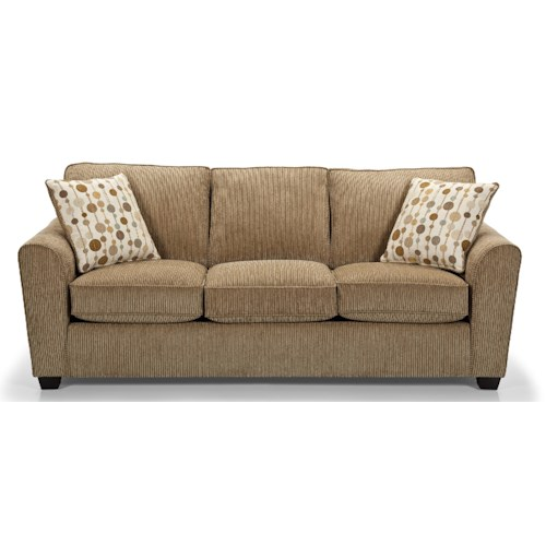 Stanton 643 Casual Queen Gel Sleeper Sofa With Rounded Flair Arms Wilson 39 S Furniture Sleeper