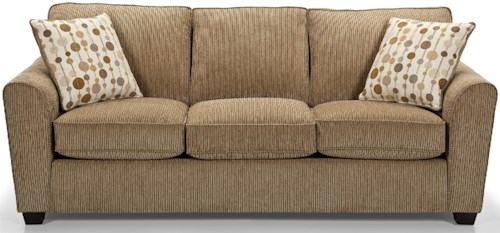 Sunset Home 643 Casual Standard Sofa with Rounded Flair Arms