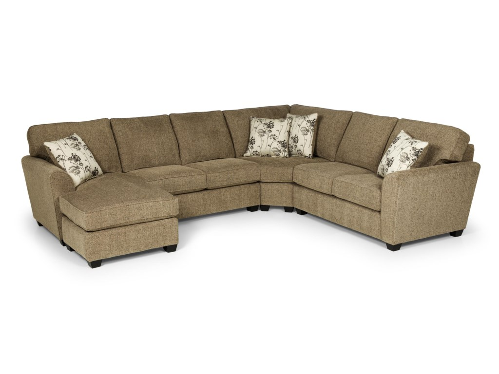 Sunset Home 204693 Pc Sectional Sofa w/ RAF Chaise