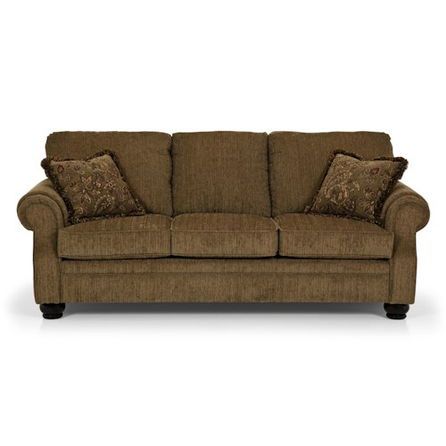 Stanton 687 Traditional Three Over Three Sofa With Rolled Arms Gallery Furniture Sofas