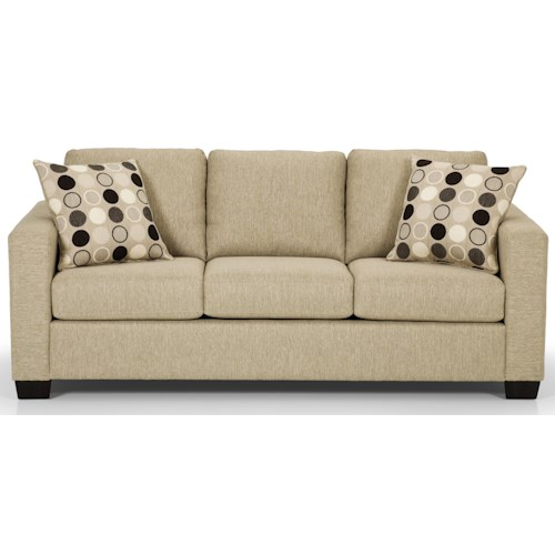 Stanton 702 Contemorary Queen Basic Sleeper Sofa With 2 Accent Pillows Gallery Furniture