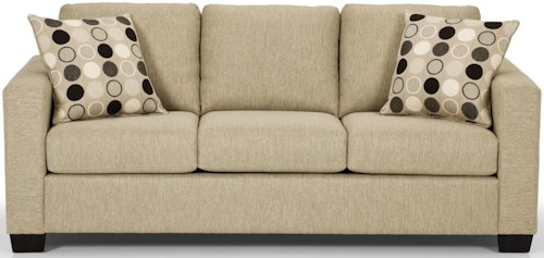 Stanton 702 Contemorary Sofa with 2 Accent Pillows